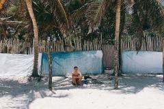 Tulum Beach Schattenplatz Nähe Dos Ceibas
